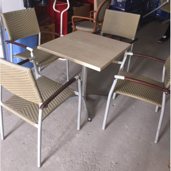 Marble Tables - Rattan Chairs (Price Descriptions!) Tables / Chairs (used)